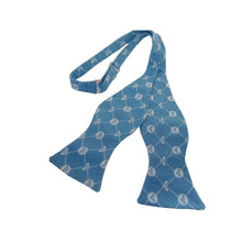 The Beehive Blue Bow Tie with Bee Motifs-bow ties-Society Gent