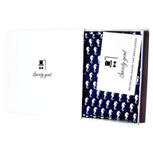 """The Hippocampus"" - Navy Blue Pocket Square with White Seahorses-pocket square-Society Gent"
