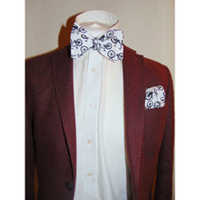 The Tour De Yorkshire White Bow Tie with Bicycle Motifs-bow ties-Society Gent