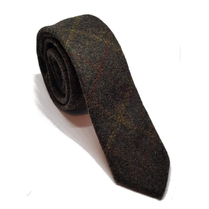 Tweed Wool Tie-ties-Society Gent