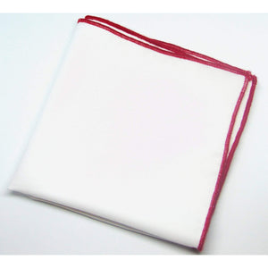 "White and Red ""Shoestring"" Pocket Square-pocket square-Society Gent"