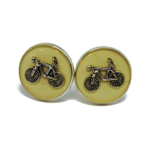 White Bicycle Cufflinks - Tour De France-cufflinks-Society Gent