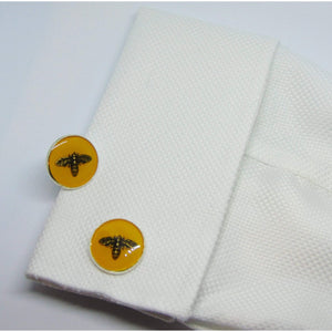 Yellow Bee Cufflinks-cufflinks-Society Gent