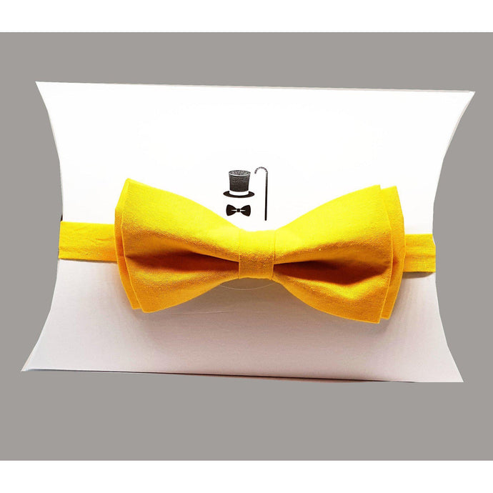 Yellow Pre-Tied Bow Tie-bow ties-Society Gent