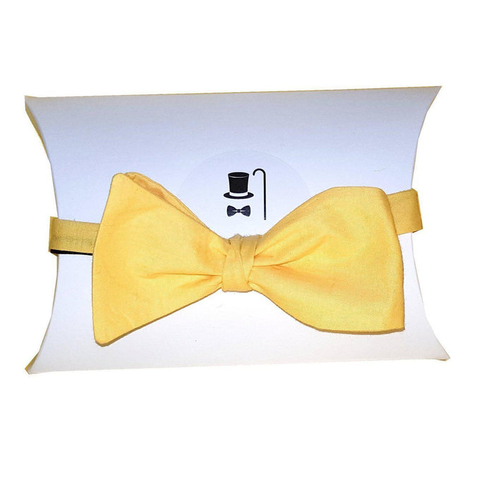 Yellow Self Tie Bow Tie-bow ties-Society Gent