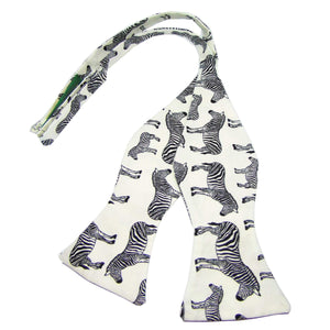 Zebra Self-Tie Bow Tie - Society Gent Animal Collection-bow ties-Society Gent