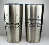 Laser Engraved Travel Mugs - 20 ounce - chrome