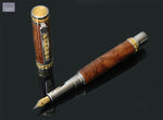Admiral Series Amboyna Burl Fountain Pen