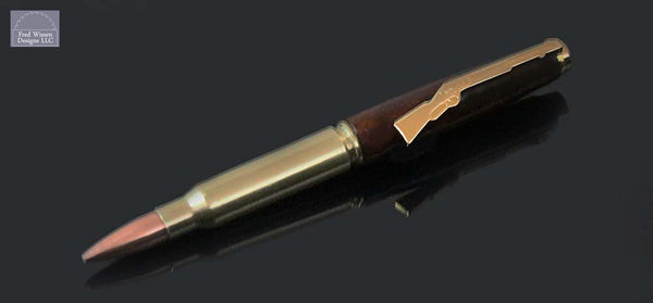 Cartridge Series Honduras Rosewood Burl Ballpoint Pen with Gun Clip