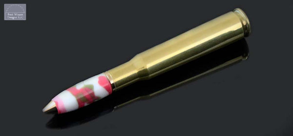 Cartridge Series Pink Camo 50 Caliber Ballpoint Pen