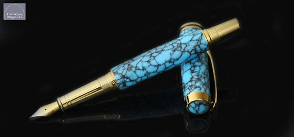 Commander Series Turquoise TruStone Fountain Pen