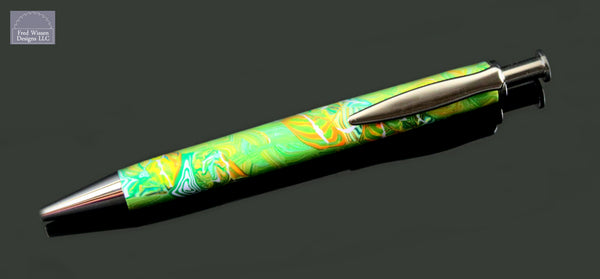 Long Click Series Butterfly Ribbons Polymer Clay Ballpoint Pen