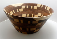 Walnut - Mahogany - Maple Bowl