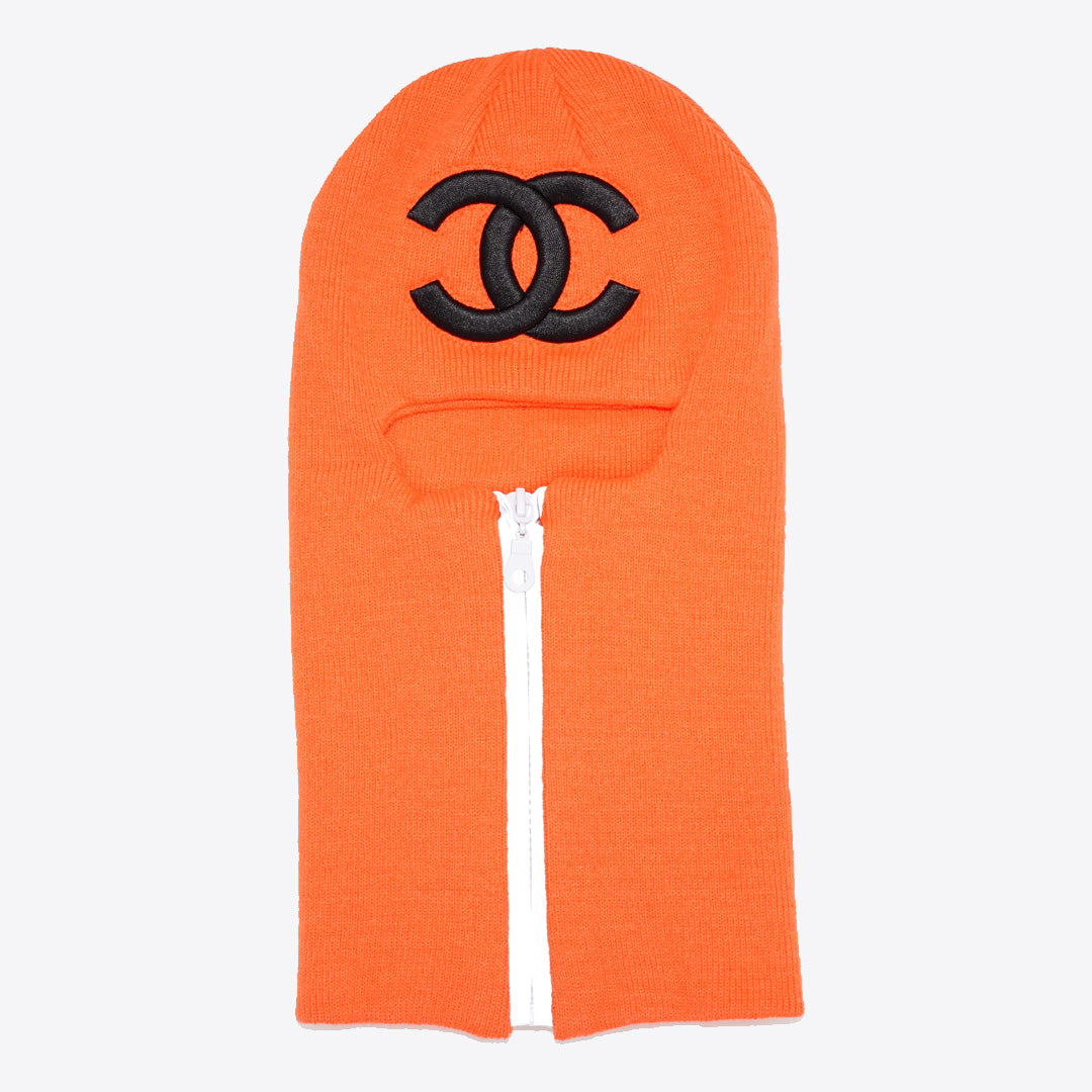CC Zip Up Ski Mask Neon Orange