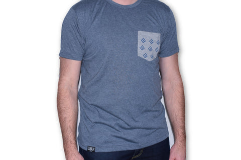 Pocket Tee - Heather Navy