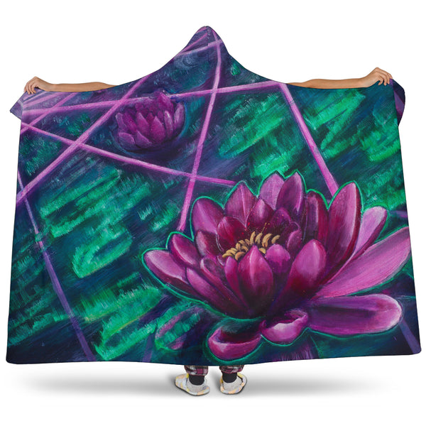 Space Lotus Hooded Blanket