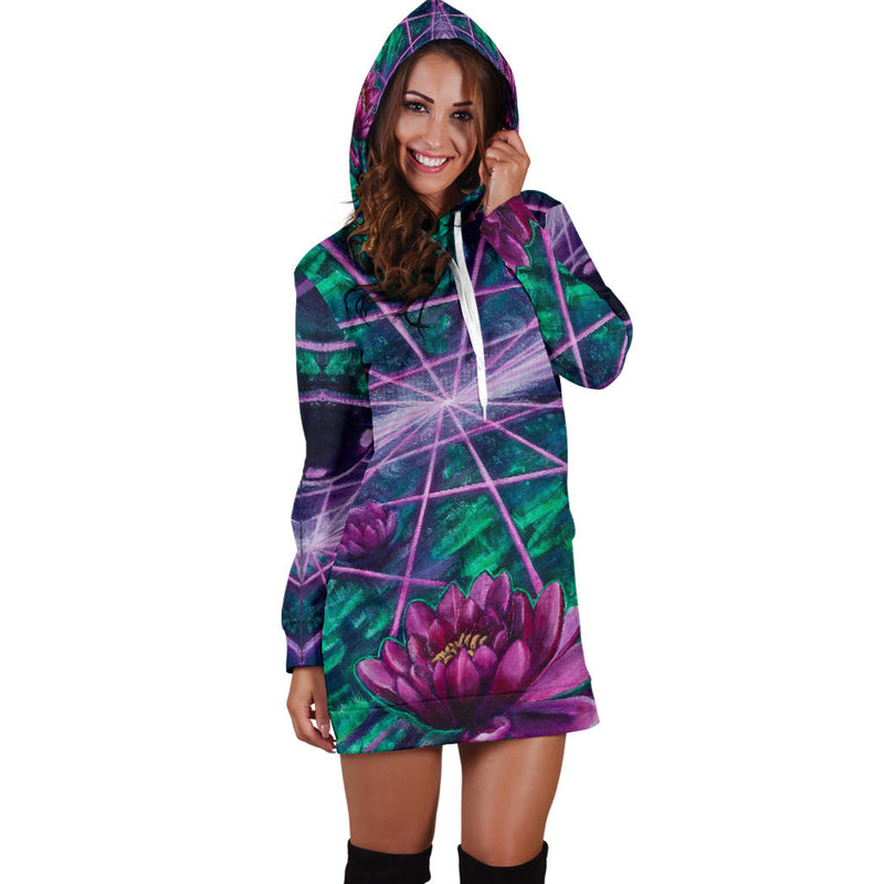 Space Lotus Hooded Dress