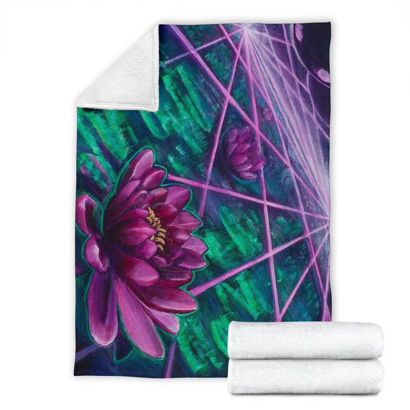 Space Lotus Blanket