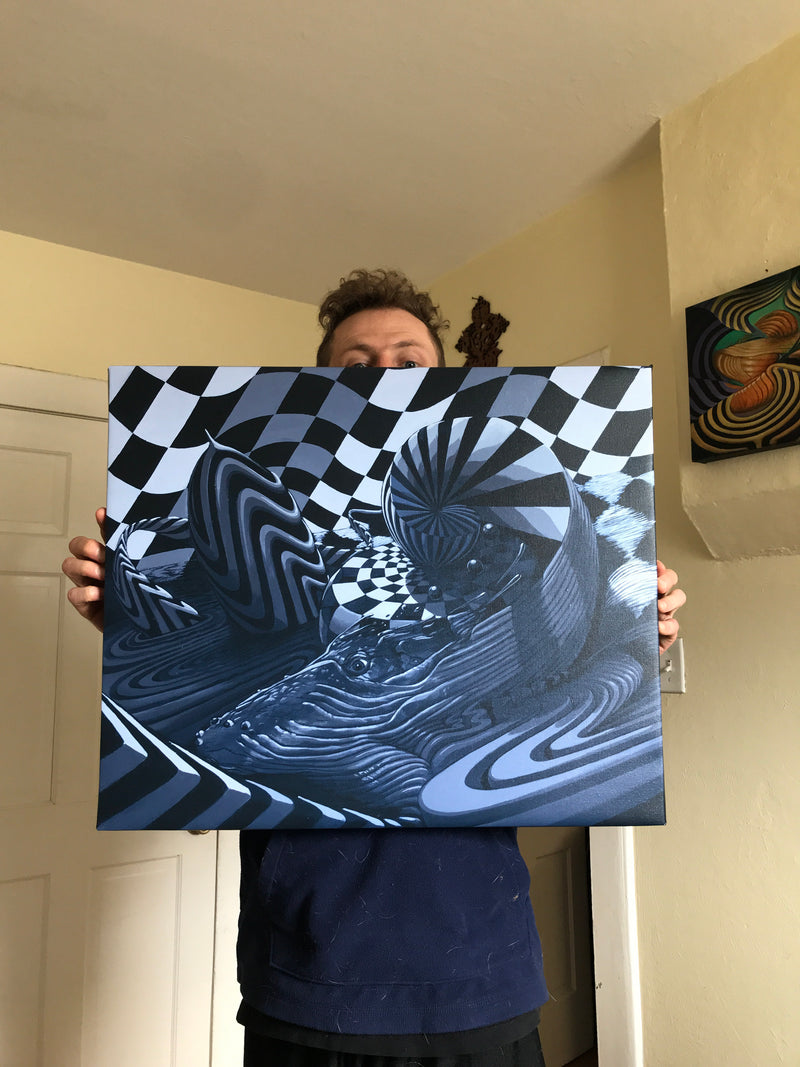 Whale Spin Limited Edition Canvas prints