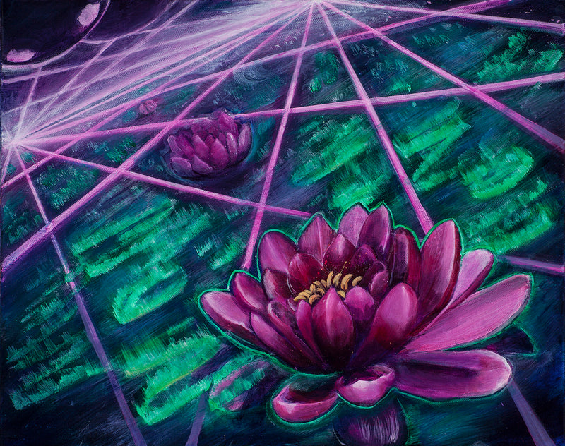 Space Lotus Tapestry