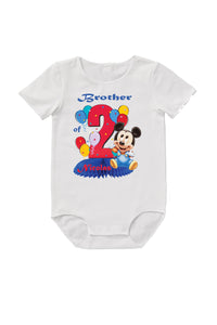 Personalised Mickey Mouse birthday family matching T-Shirts, 2nd birthday