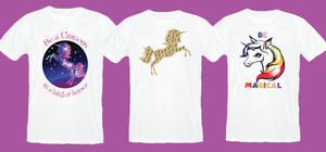 Mix and match mother-daughter Unicorn T-shirt for girls