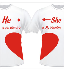 Love heart couple matching T-Shirts, Valentine's day