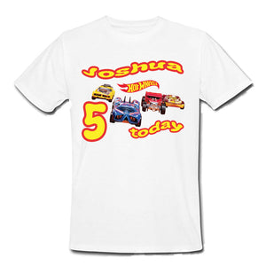 Hot Wheels Birthday family matching t-shirts, any age, any name