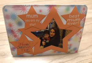 Personalised photo panel, PU Leather with standing easel, Mother's day gift