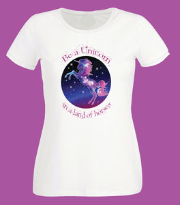 Mix and match mother-daughter Unicorn t-shirts for women