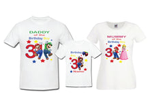 Personalised family matching T-Shirts - Mario - any age, any name