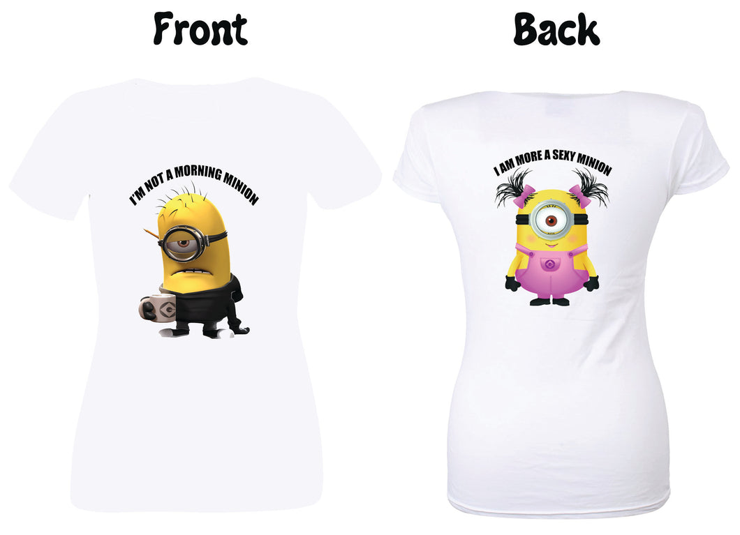 Minion funny t-shirt for her