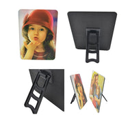 Personalised custom PU leather photo panel with standing easel