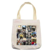 Personalised custom photo/text/logo linen tote bag