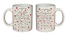 Love mugs for couple, declaration of love