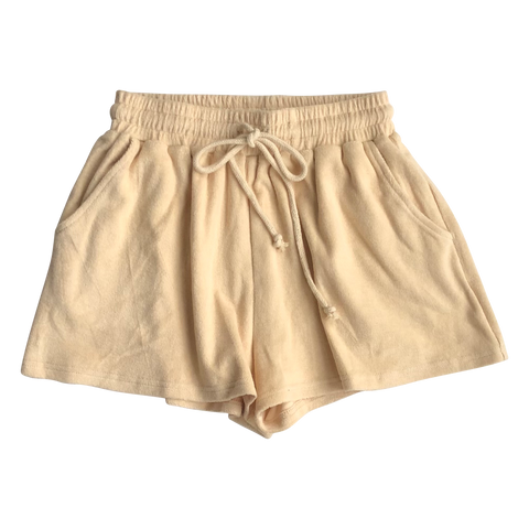Adult Almond Terry Shorts