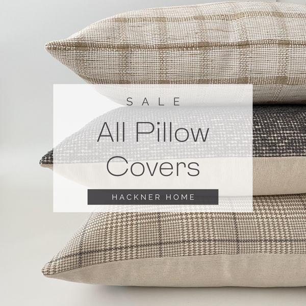 Pillow Covers, Decorative Pillow Covers, Hackner Home