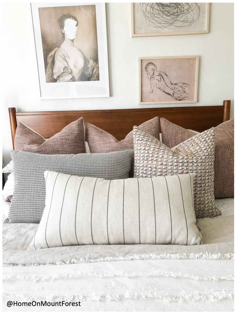 Bed Styling with pillows