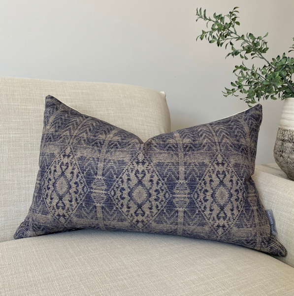Blue Turkish style pillow cover by Hackner Home