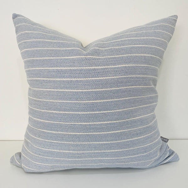 Light Blue Pillow, Blue and White Pillow, Decorative Pillows, Hackner Home, Designer Pillows, Pillow Shop, Striped Pillow Cover, Pillow Cover, Pillow Sham, Light Blue Pillow, Blue Pillow