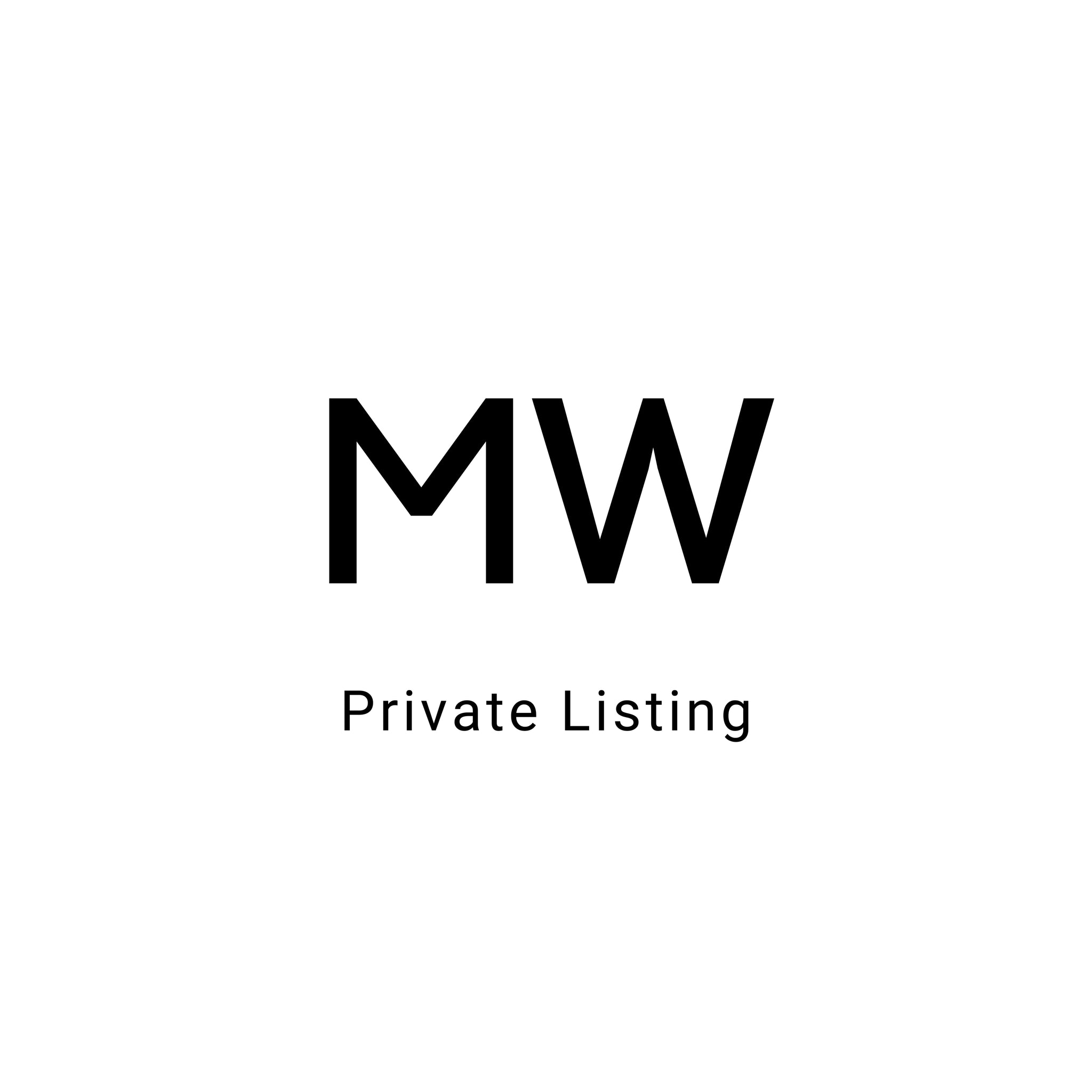 Private Listing for MW