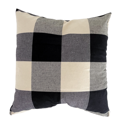 Buffalo Check pillow, Black check pillow, Christmas Pillow, Country style pillow, Country Plaid Pillow, Plaid Pillow, Decorative Plaid pillow, Check Plaid Pillow, Hackner Home, Decorative Pillows, Designer Pillows, Handmade Pillows
