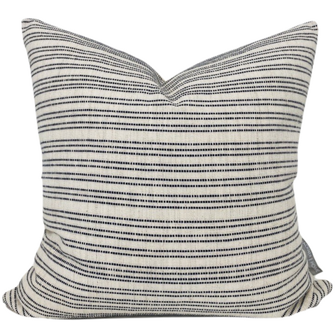 Boho Woven Stripe Pillow, Blue Boho Pillow Cover, Boho Pillow, Hackner Home, Designer Pillows, Decorative Pillow Cover, Pillow Covers, Textured Pillows,  Modern Boho Pillow, Boho Farmhouse Pillow