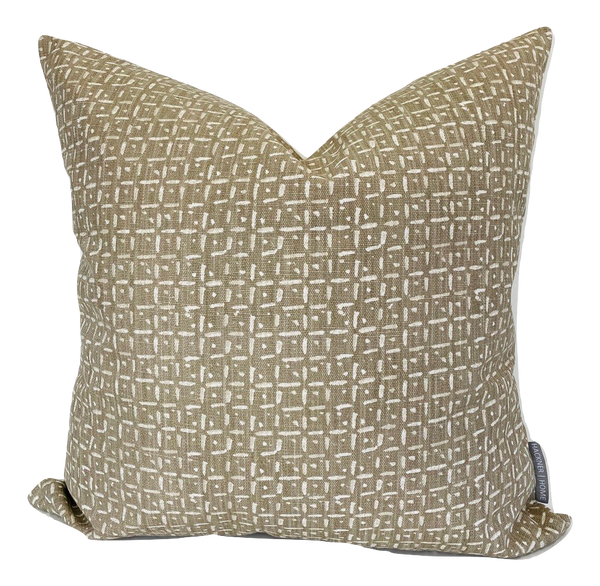 Brown Basket Pillow Cover