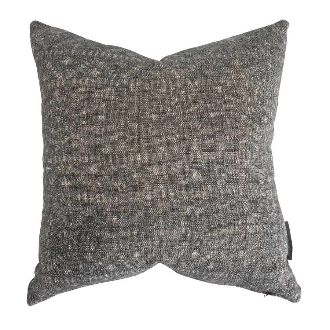 Distressed Gray Pillow, Tribal Pillow Cover, Linen Distressed Pillow, Vintage style Pillow, Linen Pillow Cover, Gray Pillow, Decorative Gray Pillow, Hackner Home, Decorative Pillow Shop