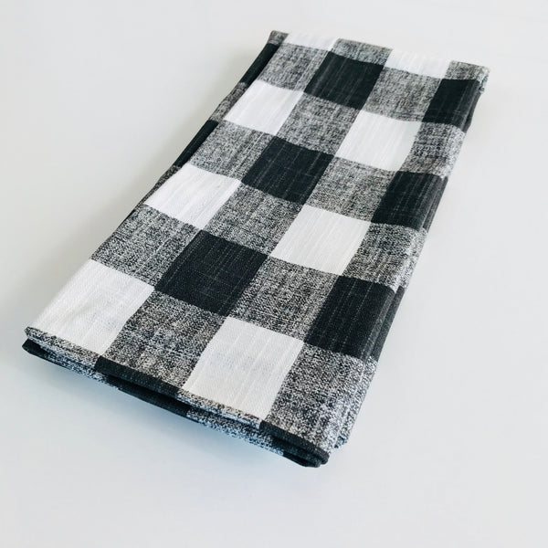 Buffalo Plaid Cloth Napkins, Set of 4