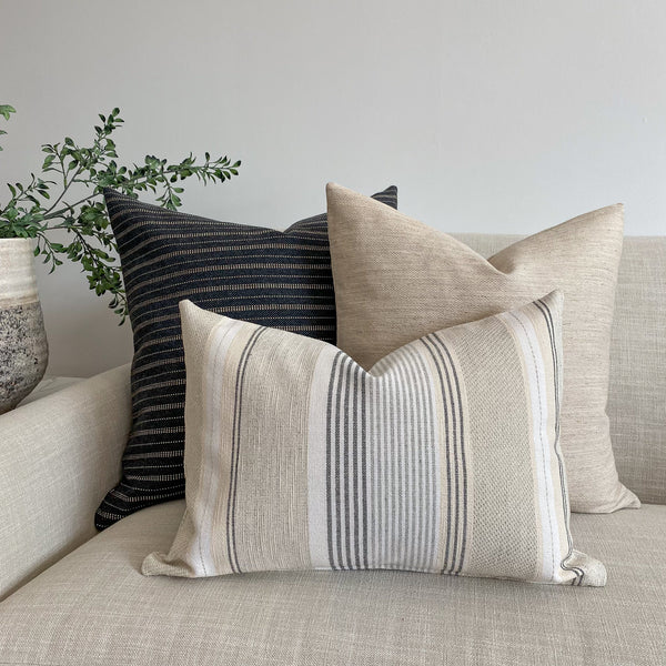 Gray Vintage Pillow, Vintage pillows, Boho pillows, Scandinavian style pillow, Designer pillows, decorative pillows, Hackner Home, Gray Pillows, Throw pillows, modern pillows