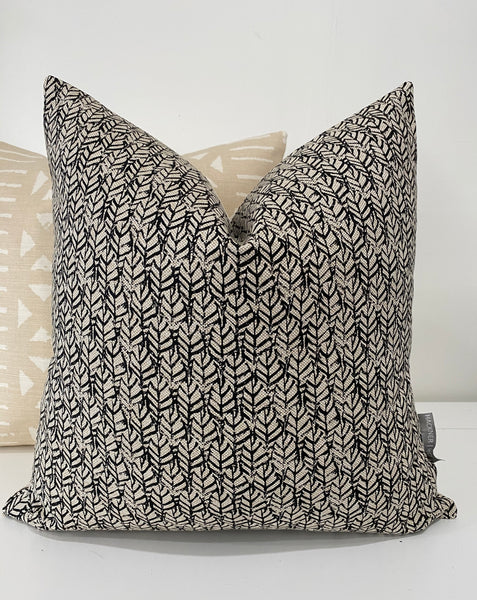 Black Pillows, Sumer Pillows, Outdoor Pillows, Decorative Pillows, Designer Pillows, Designer Pillow Covers, Handmade Pillows, Hackner Home, Decorative Pillow Covers, Black Leaves Pillow, Pillow for couch, Linen Pillows, Modern Pillows, Curated Pillows, High End Pillows,  Decorative Pillows, Pillow Shop