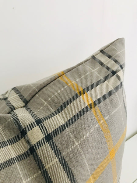 Taxi Plaid Pillow Cover