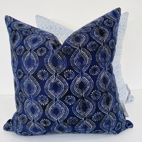 Boho Indigo Pillow Cover